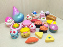 Assorted Squishies Random Cakes and Foods PU Squishy Slow Rising Foam Toys