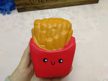 Red Chips Fries Squishies PU Soft Slow Rising Foam Squishy Toy