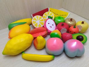 Custom Assorted Squishies Fruits Sets PU Slow Rising Squishy Toys