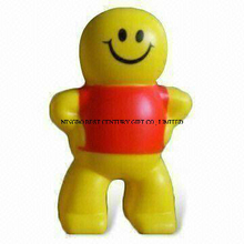 PU Foam Stress Toy Smiling Boy Design