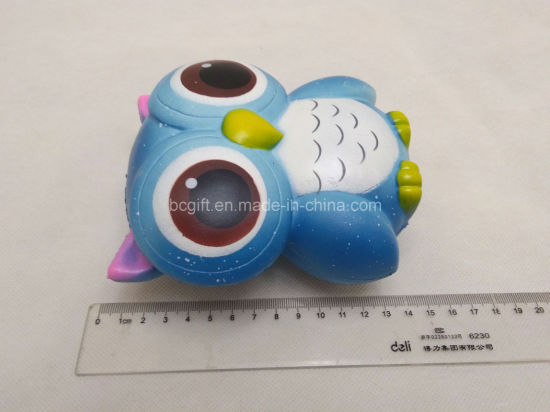 Custom Squishies Big Owl PU Foam Slow Rising Squishy Toys