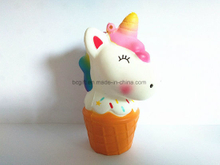 Unicorn Horse Head Ice Cream PU Squishy Slow Rising Toy