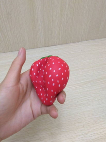 Wholesale PU Squishy Strawberry Squeeze Toy Slow Rising Scented Squishies