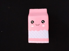 Squishies Pink Milk Box PU Soft Slow Rising Squishy Toys