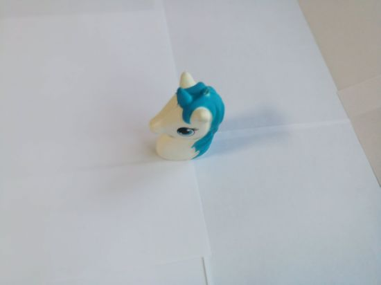 Hot Selling Blue Unicron Horse Head PU Squishy Slow Rising Toy