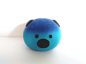 Galaxy Pig Head PU Foam Soft Squishy Slow Rising Toys