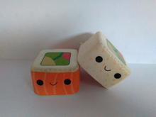 Custom Squishies Square Sushi Foods PU Slow Rising Squishy Toys