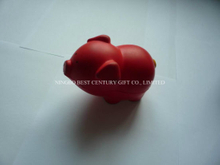 PU Anti-stress Toy Pig Red Design Promotional Stress Balls