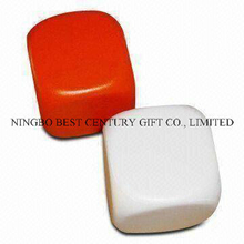 Hot Sales PU Plain Dices Stress Reliever Toy with Custom Logo