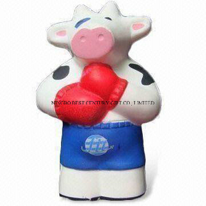 PU Foam Toy in Standing Cow Shape Promotional Stress Balls