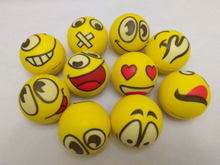 Cute Emoji Balls Shaped PU Soft Slow Rising Squishy Toys