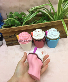 PU Squishy Slow Rising Ice Cream Straw Cup Scented Toy