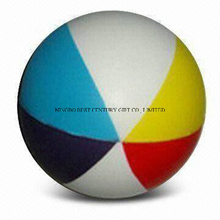 PU Antistress Ball Beach Ball Design Multicolors Toy