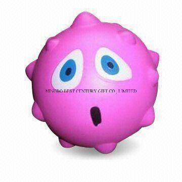 PU Stress Squeeze Toy Thorn Ball Design