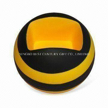 Round Shape Mobile Phone Holder PU Foam Gift Stress Ball Toy