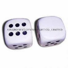 PU Foam Stress Reliever Gift Dice Shape Toy with Dots