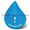 Wholesale PU Water Droplet Shape Stress Reliever with Custom Logo