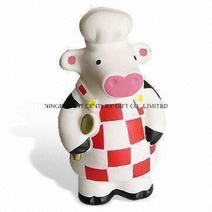 PU Foam Stress Toy Cook Lady Cow (with Gown) Design