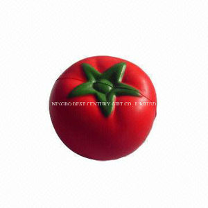 PU Squishy Slow Rise Stress Reliever Toy Tomato Design