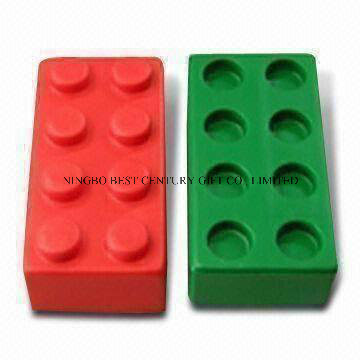 PU Foam Stress Reliever Toy Toy Bricks Shape