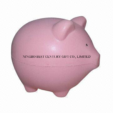 PU Foam Fat Pig Design Antistress Toy Promotional Stress Ball