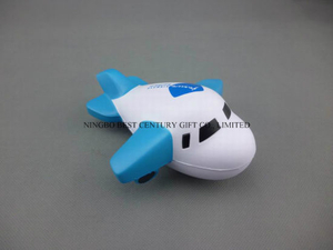 Big Plane Design PU Foam Promotional Toy Stress Ball