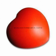Red Heart Shape PU Foam Stress Toy Promotional Stress Balls