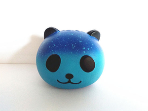 PU Galaxy Star Panda Head Soft Squishy Slow Rising Toys