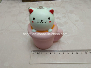 PU Squishy Toy Cup Cat Feeder Slow Rising Cute Squishies