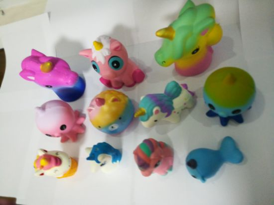 Wholesale Assorted Unicorns Animals Series PU Squishy Slow Rising Toys