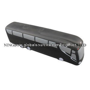 Black Bus Design PU Foam Promotional Toy Stress Ball