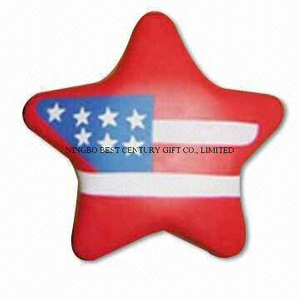 PU Foam Stress Reliever Toy Star Flag Shape