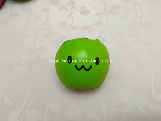 Smiley Apple PU Squishy Slow Rising Scented Toy Squishies Fruits