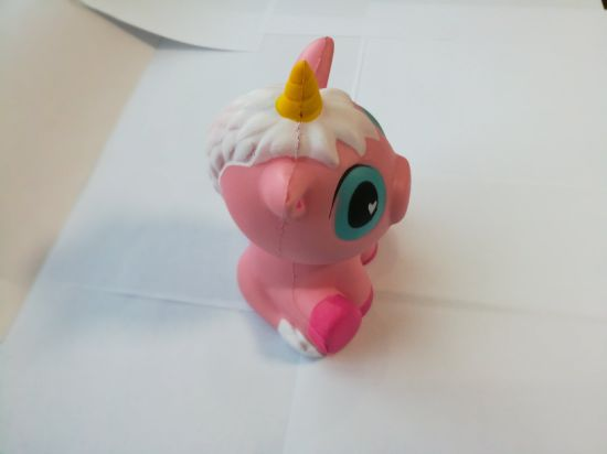 Hot Selling 15cm Pink Unicorn Sitting Horse Jumbo Squishy PU Slow Rising Toys