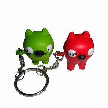PU Stress Dog and Cat Keychains Promotional Stress Balls