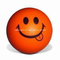 PU Foam Anti Stress Ball Smiling Ball Shape Orange Color Toy