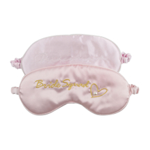 Best Most Comfortable Soft Pure 100 Silk Pink Washable Luxury Sleep Eye Mask Cute Novelty Sleeping Eye Patch with Elegance Embroidery Logo Design Eyemask