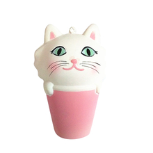 Cute Squishies Cat Head Cup PU Squishy Slow Rising Toy