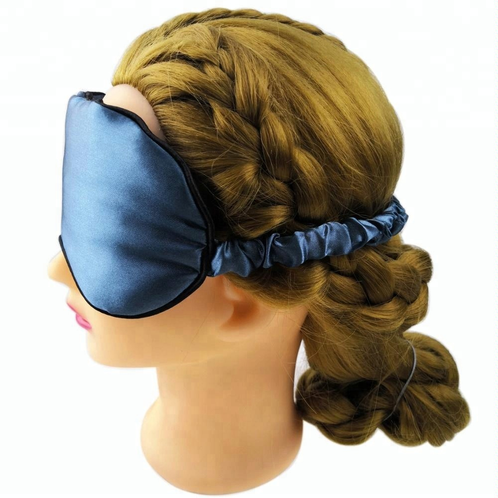 Imitation Silk Fabric Luxury Travel Sleep Masks Imitated Silk Like Material Funny Eye Patches Customized Gift Cute Blindfold Novelty Eyemasks