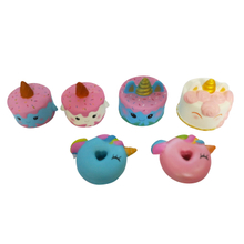 Mixed Squishies Unicorn Cakes Series PU Squishy Slow Rising Toys